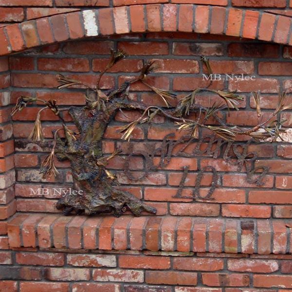 bonsai z metalu - płaskorzeźby ze stali - metaloplastyka - numer domu - nr.kat. Z62