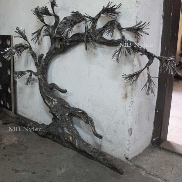 bonsai ze stali - drzewo z metalu - płaskorzeźba bonsai - metaloplastyka Dębica - nr.kat. Z63