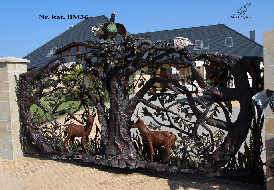 Rzeźba z metalu - Designerska brama bm36