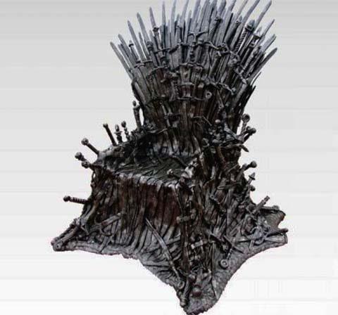 figury ze stali - gra o tron - tron z metalu - metaloplastyka