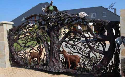 rzeźby z metalu - bramy kute