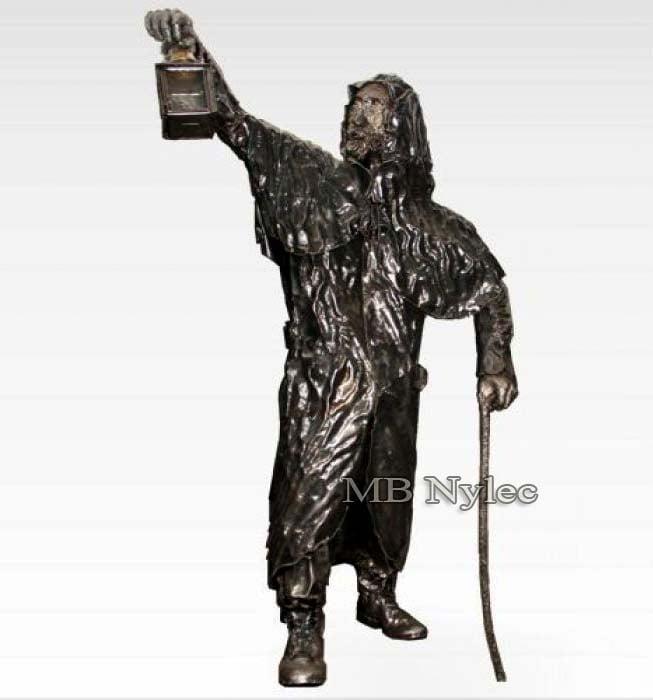 Rzeźba - Latarnik ze stali - metaloplastyka - numer kat. Z31