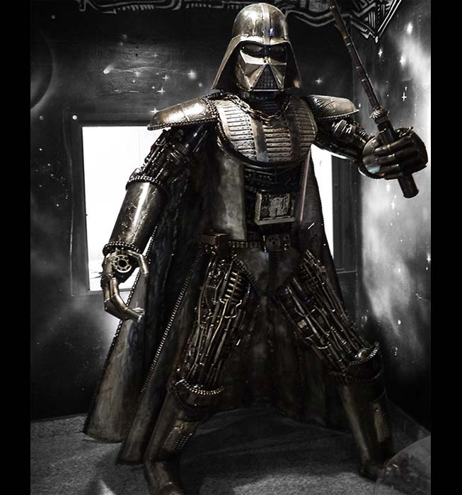 rzeźby ze stali - Lord Vader - skala 1:1 MB Nylec - numer kat. Z34