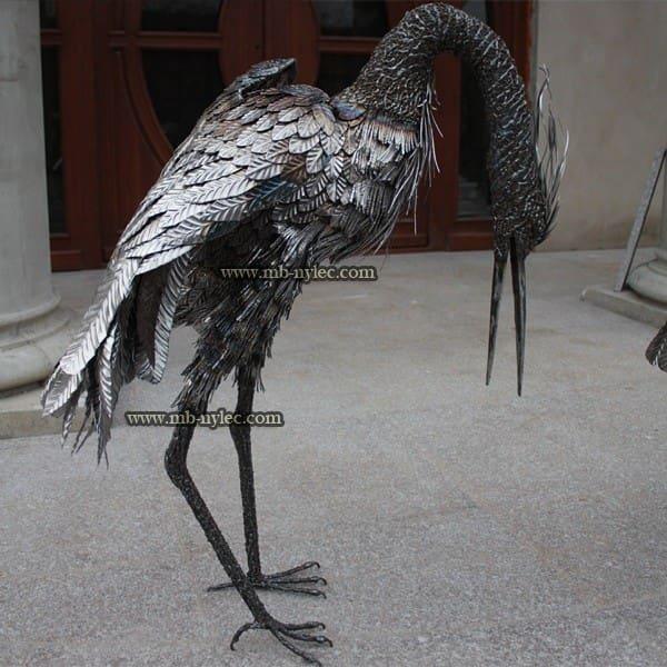 rzeźby ze stali - czapla z metalu - metaloplastyka Dębica - numer kat. Z16