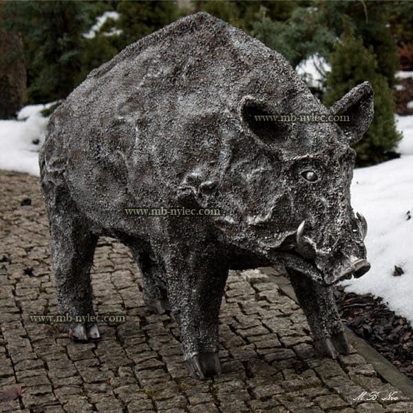 rzeźby ze stali - dzik odyniec z metalu - rzeźby stalowe Dębica - nr kat.Z11