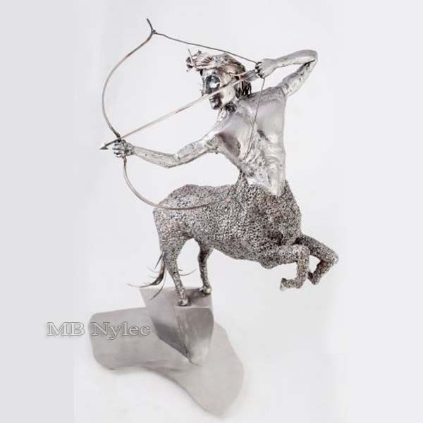 rzeźby ze stali - strzelec - metaloplastyka - nr.kat.Z50