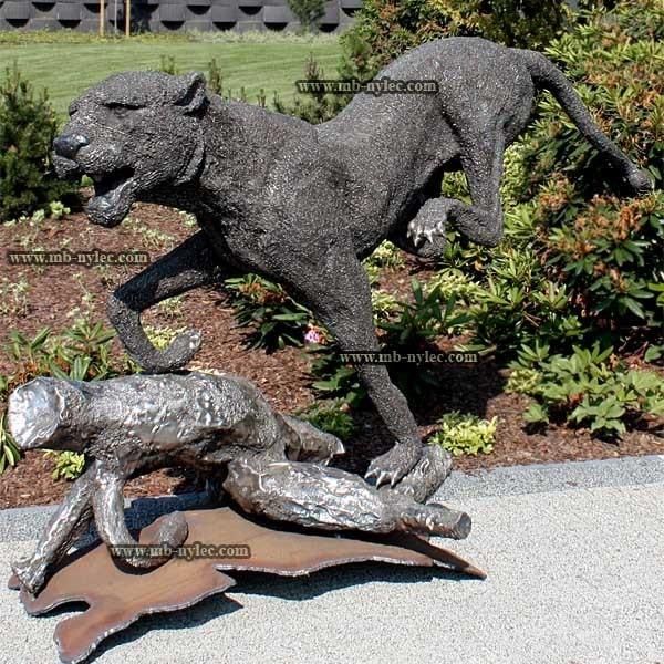 rzeźby ze stali - jaguar z metalu - kowalstwo - numer kat. Z25