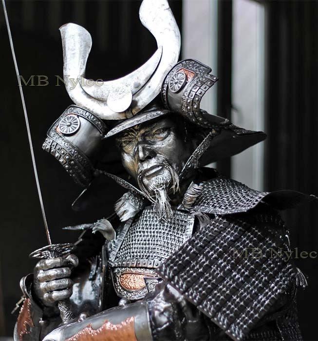 figury stalowe - samuraj ze stali - wysokość 220cm - MB Nylec