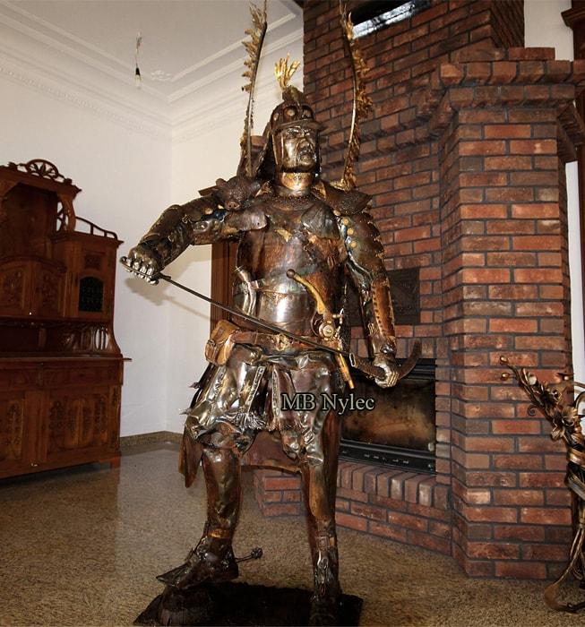 Husarz - figura stalowa- wysokość 220cm - MB Nylec