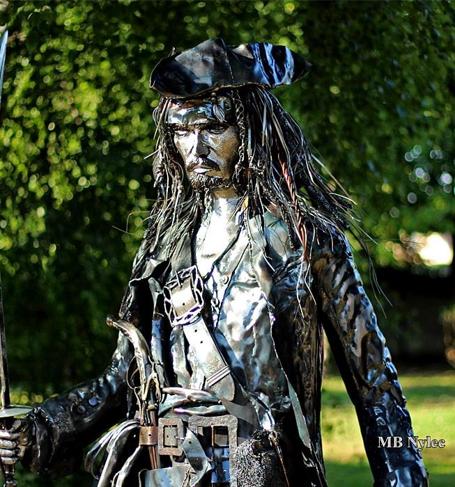figura stalowa -Jack Sparrow- wysokość 220cm - MB Nylec
